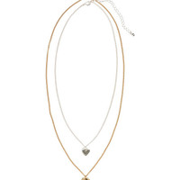 H&M - 2-pack Necklaces - Gold/Silver - Ladies