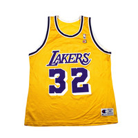 Vintage 90s Champion Los Angeles Lakers #32 Magic Johnson NBA Jersey Mens Size 48
