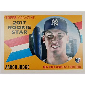 "2017 Topps Archives ""SP"" AARON JUDGE ROOKIE CARD #RS-9 Yankees, Mag 1960-style"