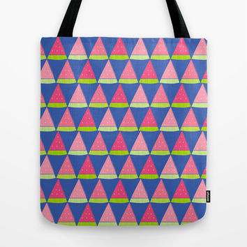 Watermelon Angles Tote Bag by Ariel Lark | Society6