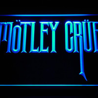 Motley Crue Band Rock Bar LED Neon Sign with On/Off Switch 7 Colors to choose