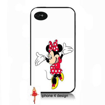 Disney Minnie Mouse I phone 4 case, Iphone case, Iphone 4s case, Iphone 4 cover, i phone case, i phone 4s case