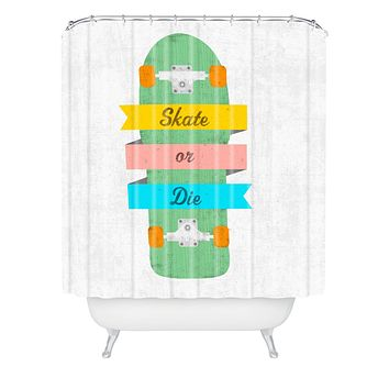 Nick Nelson Skate Or Die Shower Curtain