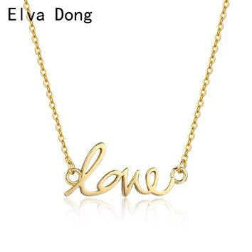 Gold or Rose Gold or White Color Simple Love Charm Pendant Choker Necklaces for Women Girls Best Friend Boho Jewelry bohemian