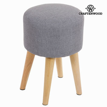 Sixty round stool grey - Love Sixty Collection by Craften Wood