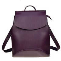 High Quality Leather Backpack Shoulder Bag -18 Color Options-