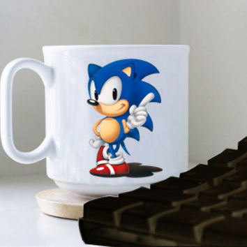 sonic pose mug heppy mug coffee, mug tea, size 8,2 x 9,5 cm.