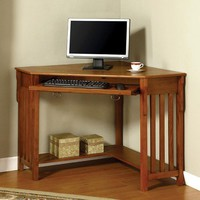 Toledo Contemporary Corner Desk, Medium Oak
