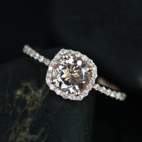 Barra Petite Size 14kt Rose Gold Thin Morganite by RosadosBox