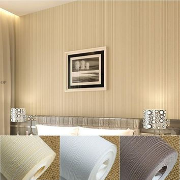 Italian Style Modern 3D Feeling Background Wallpaper For Living Room White And Brown Striped Wallpaper Roll Desktop Wall Papers