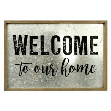 Hello Spring Galvanized Wall Decor-Welcome To Our Home | JOANN
