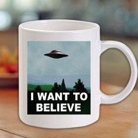 The X Files I Want to Believe Mug/Cup