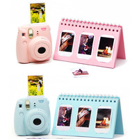 Photo Album Fujifilm Instax Mini Film Photo Display and Stand Pink and Blue