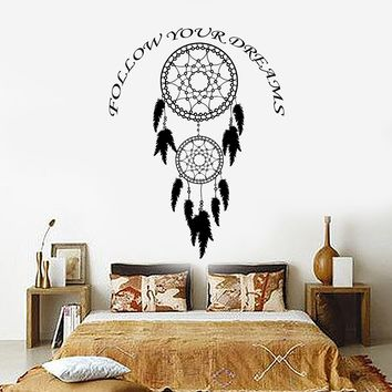 Vinyl Wall Decal Dreamcatcher Dream Catcher Bedroom Decor Stickers Unique Gift (ig3378)