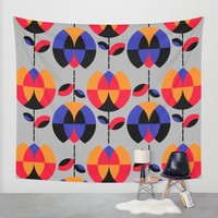 HappyGarden Wall Tapestry by Susana Paz | Society6