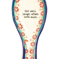 Natural Life 'Eat Well, Laugh Often, Love Much' Ceramic Spoon Rest | Nordstrom