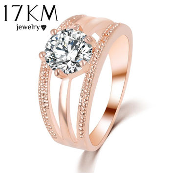 Austrian Crystals Ring Gold Silver Plated anelli Flower Ring bague Engagement anillos anel Rings for Women wedding ring Dropship