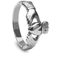 Ladies Silver Claddagh Ring LS-CLAD6