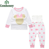 Minnie Mouse Children's Pajamas for Girl Ins Rabbit Boy Sleepwear Baby Pyjama Set Cotton Kids Cat Pijama Bebe Home Wear Clothes