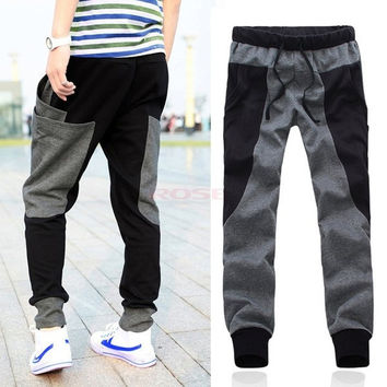 Fashion Brand Cotton Drop Crotch Pants Men Outdoors Skinny Joggers Sweatpants Hip Hop Harem Baggy Casual Trousers Men Pants SV013069|26601 [7898721991]