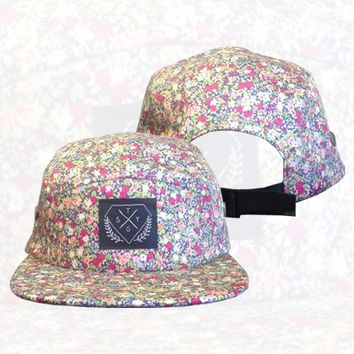 Stick To Your Guns - Floral 5 Panel Hat