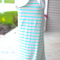 Stripe Maxi Skirt - Mint
