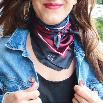 Monogrammed Silk Neckerchief
