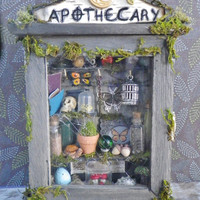 Fairy Witch Apothecary Diorama standing shadowbox