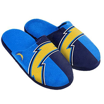 NFL San Diego Chargers Split Color Slide Slipper, Small, Blue