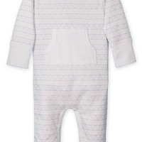 Kangaroo Romper (Triangles on White) by Feather Baby