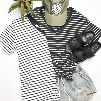 Striped Sweetheart Tee