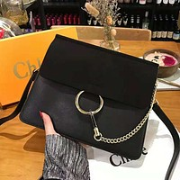 Chloe High Quality Classic Fashionable Women Leather Shoulder Bag Crossbody Satchel Black
