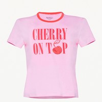 CHERRY ON TOP RINGER TEE