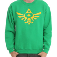 Nintendo The Legend Of Zelda Triforce Crew Pullover