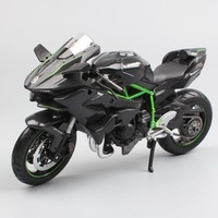 1:12 Scale Kawasaki Ninja H2 H2R diecast sportbike Track racing motorcycle supercharged models miniatures bike toy for child's