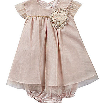 Laura Ashley London Newborn-24 Months Mesh Corsage Dress - Dusty Pink