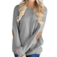 Loose Round Neck Bat Long Sleeve Sweater