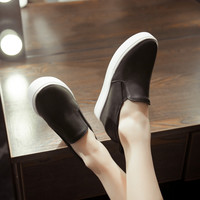 Women Wedges in Black, White High Heel Platform Shoes