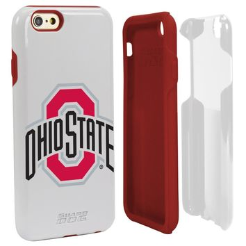 NCAA Ohio State Buckeyes Hybrid Case for iPhone 6, White, One 6