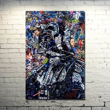 Star Wars Force Episode 1 2 3 4 5  7 Force Awakens Movie Art Silk Poster 13x20 24x36 inches Pictures For Living Room Decor Great Gift 05 AT_72_6