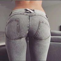 wsryxxsc brand new freddy  low waist jeans pants woman trousers denim for lady women girl   top quality on sale