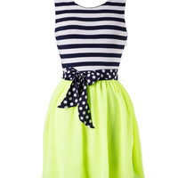 Neon Nights Dress - Lime