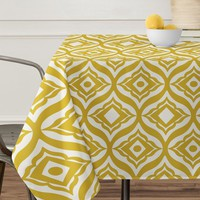 Heather Dutton Trevino Yellow Tablecloth