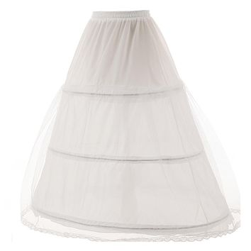 3 Hoop Ball Gown Bone Full Crinoline Petticoats For Wedding Dress Wedding Skirt Accessories Slip