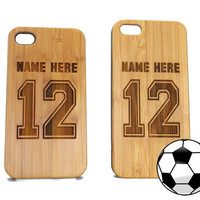 iPhone 5 / 5S Case Soccer Jersey Personalized with by iMakeTheCase