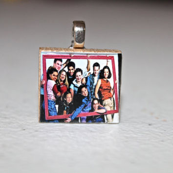 Degrassi Scrabble Pendant by childhoodpendants on Etsy
