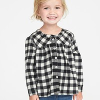Patterned Flannel Tunic for Toddler Girls | Old Navy