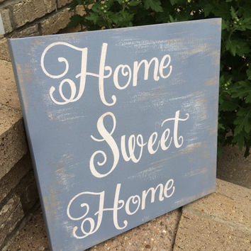 Home Sweet Home Distressed Wood Sign, Wall Decor, Wall Art, Wood Sign,  Wood Wall Art, Housewarming Gifts
