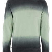 Dark Green Dip Dye Sweatshirt - View All  - New In