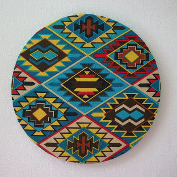 Mouse Pad mousepad / Mat - round - aztec south western  - Computer Accessories decor  Custom Desk Coworker Gifts Office Gifts